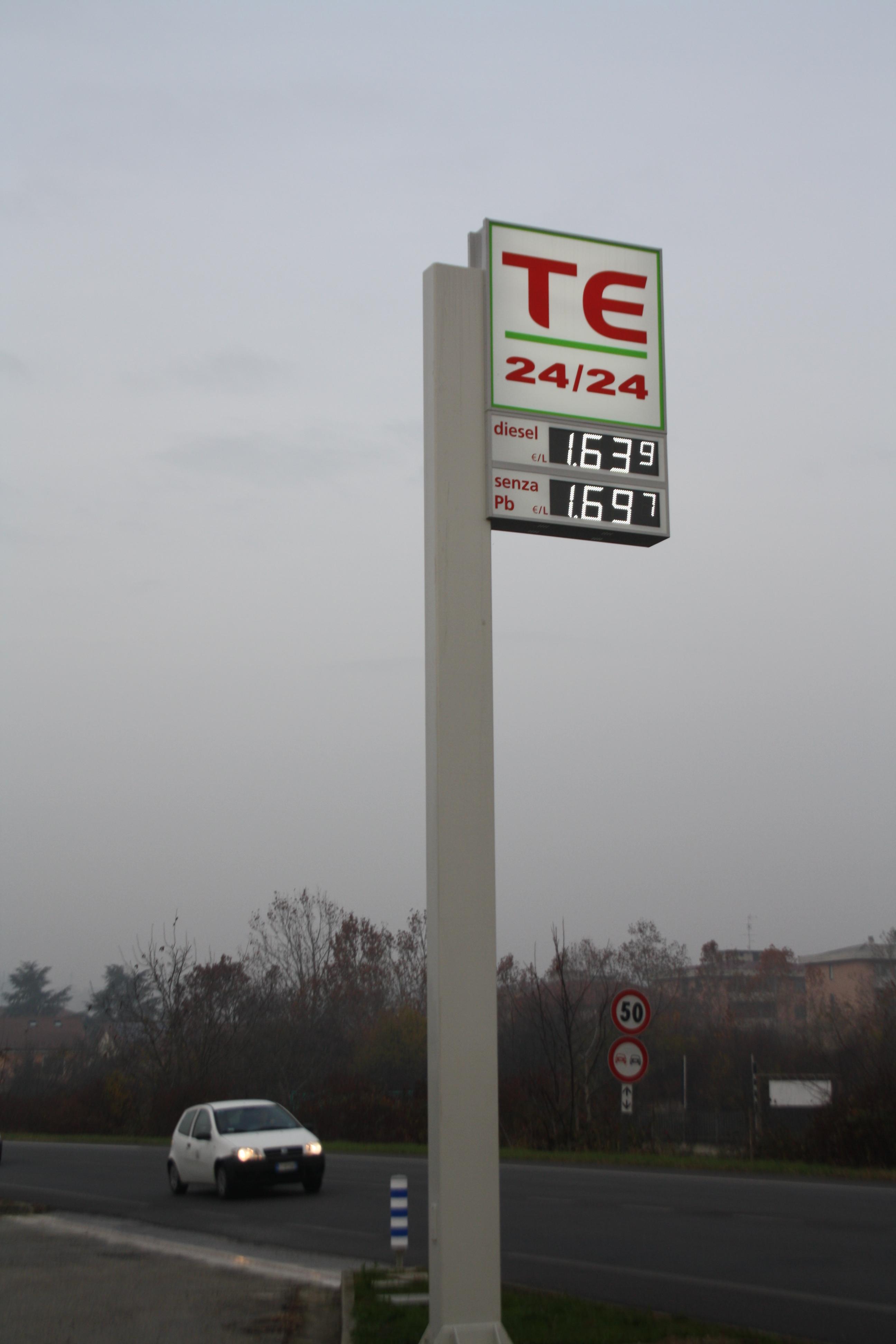 Mrs Sensible's Garage TE. €1.69 a litre