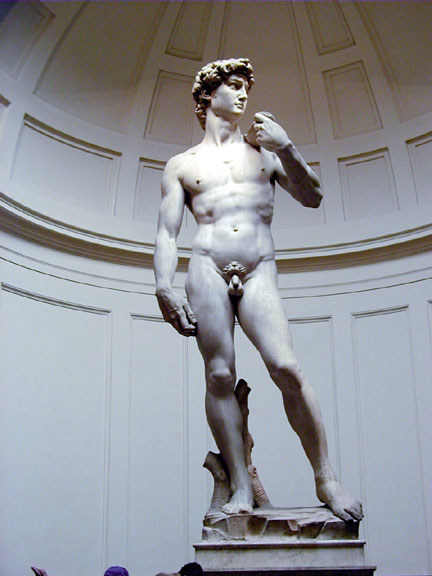 Credits to Michelangelo. I think he was Italian