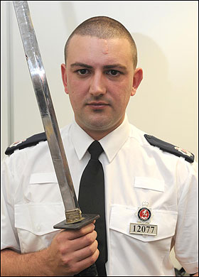 Policeman with the penknife
