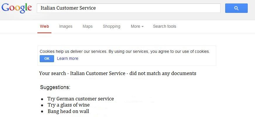 Italian Customer Service
