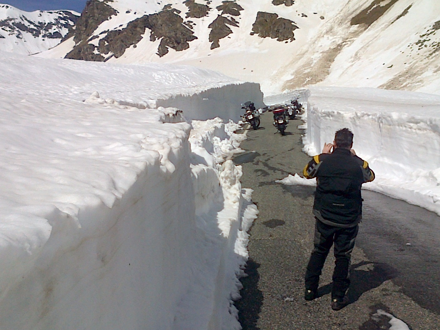 The snow plough had cleared the road