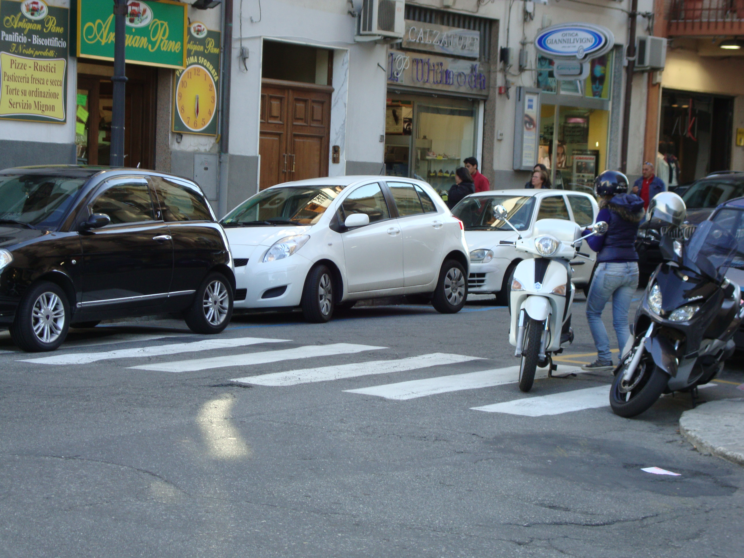 Don't use a pedestrian crossing to cross,