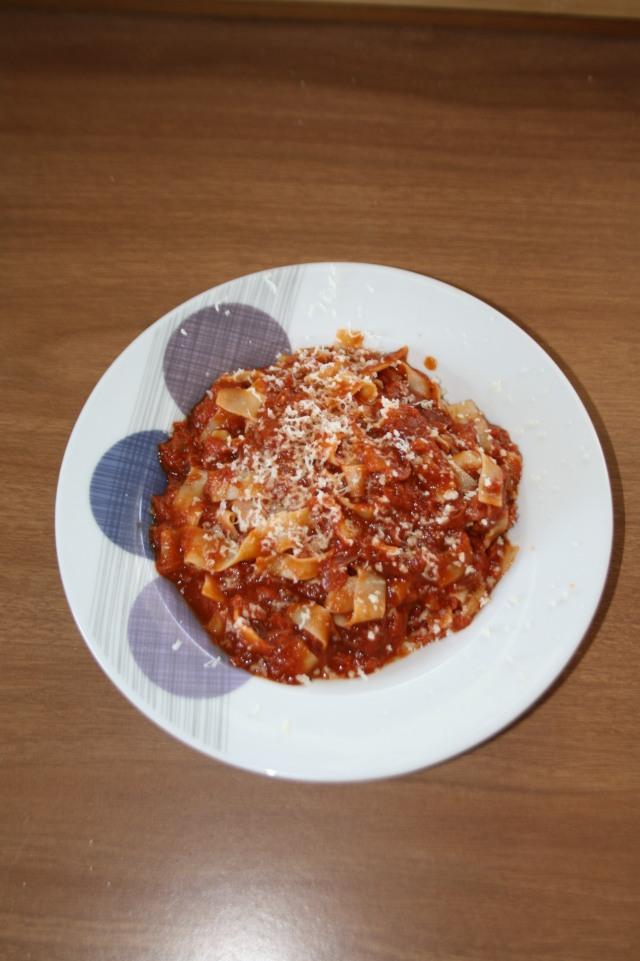 Dog meat pasta