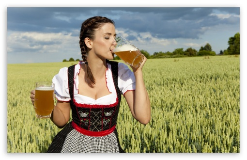 Mrs Sensible said she looked like a German woman. So I saw beer