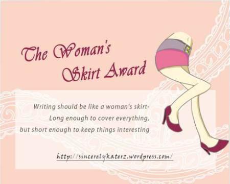 Woman's Skirt Award