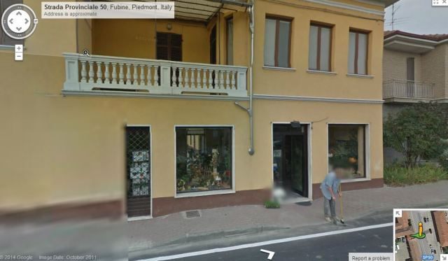 Marisa outside her flower shop. Courtesy Google maps.