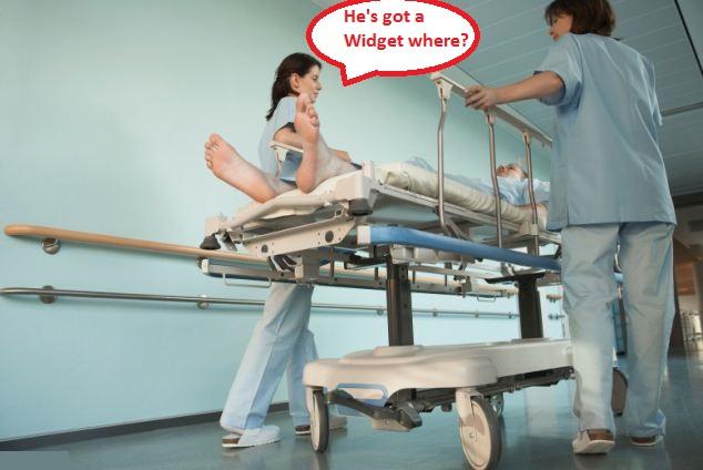 Nurse stop  sniggering.