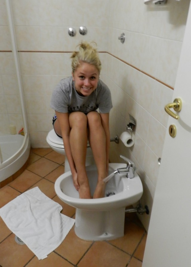 A bidet is not for washing your feet in.
