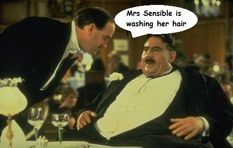 Sorry Pecora Nera, Mrs Sensible is washing her hair.