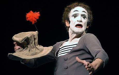 The great Marcel Marceau credit: Telegraph news