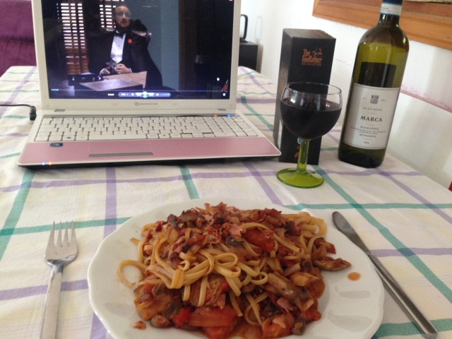 Spaghetti, wine and the Godfather DVD