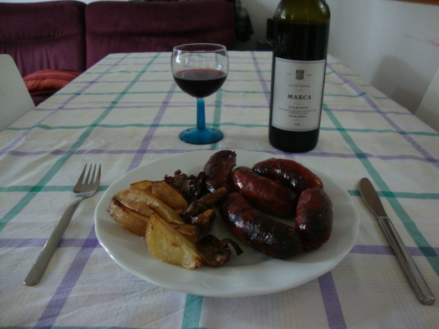 Sausages with vegatables