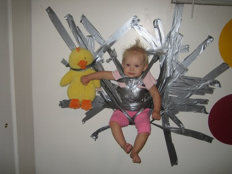 As long as I behave she wont gaffa tape me to the chair