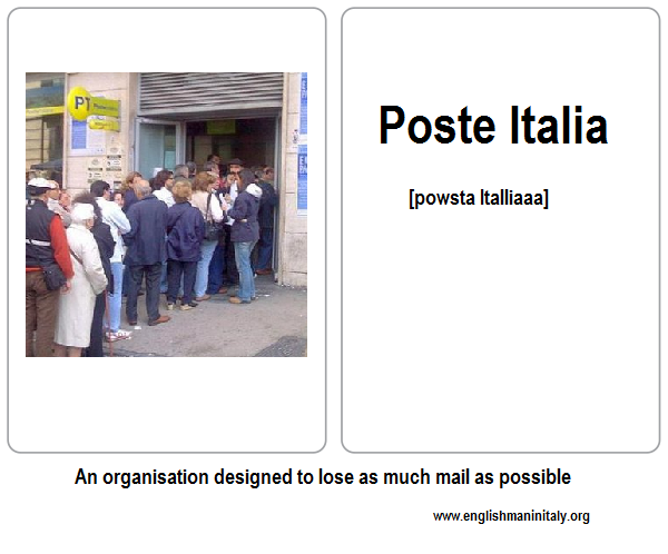 Italian Language Flash Card