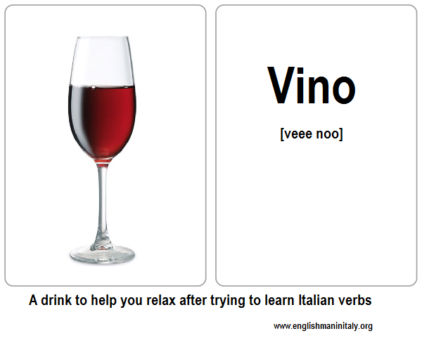 Italian Flash Card Wine